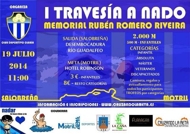 El Club Clarín organiza el sábado la I Travesía a nado 'Memorial Rubén Romero Riveira'