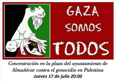 Concentración en Almuñécar contra el genocidio en Palestina