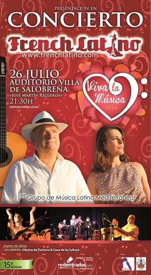 French Latino en concierto este sábado en el auditorio de Salobreña