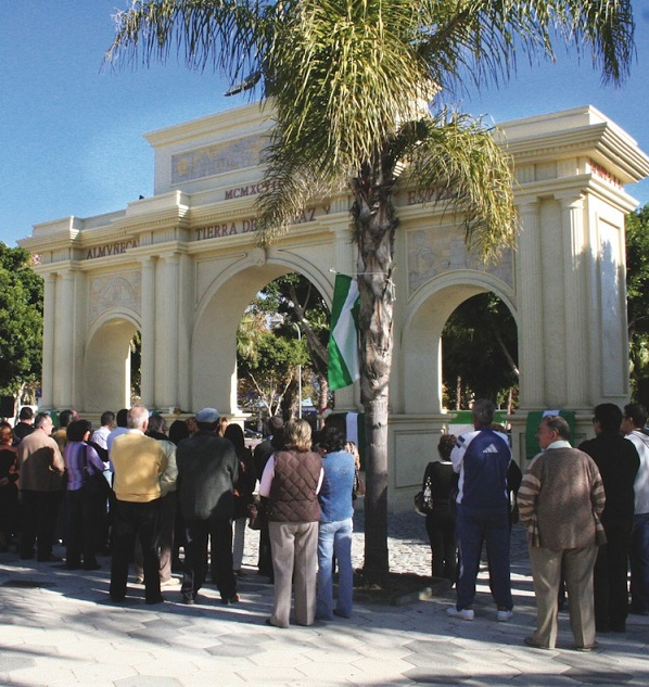 """""""El ayuntamiento borrra el nombre de Blas Infante del arco que lleva su nombre"""" por el PA Almuñécar"""