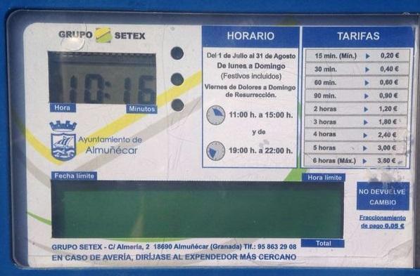 El PP de Salobreña solicita que se reduzca el horario de la zona azul, quedado libre de pago el tramo del mediodía