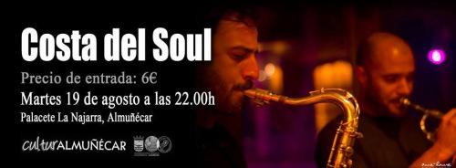 Costa del Soul en directo hoy martes en el palacete La Najarra Almuñécar