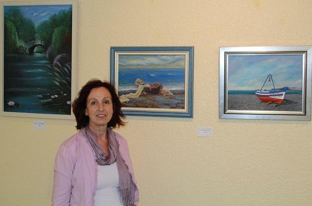 La sala de exposiciones de la Casa de la Cultura acoge  la  exposición Cinco artistas a orillas del arte