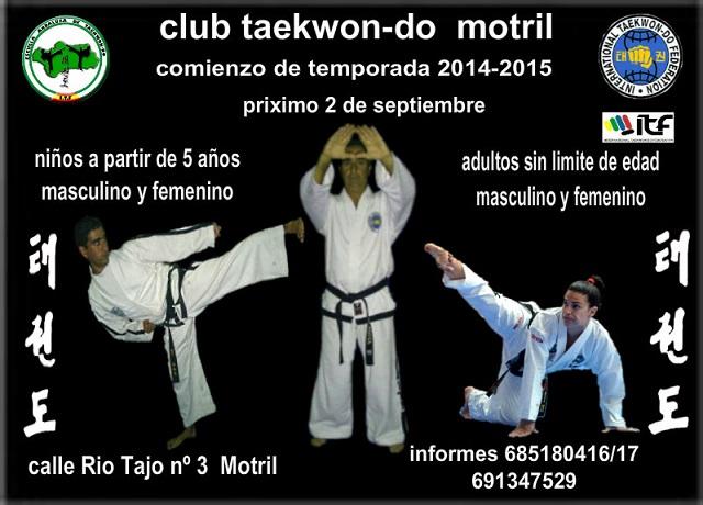 El  Club Taekwondo Motril  comienza la temporada 2014-201