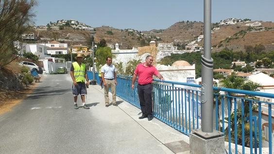 Almuñécar ha realizado mejoras en el barrio Los Marinos por importe de más de 20.000 euros