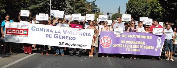 UGT y CCOO condenan las última muerte por violencia de género