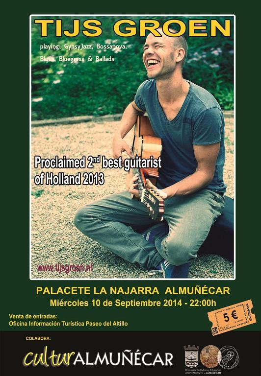 El Palacete de La Najarra acogerá la guitarra de Tijs Groen