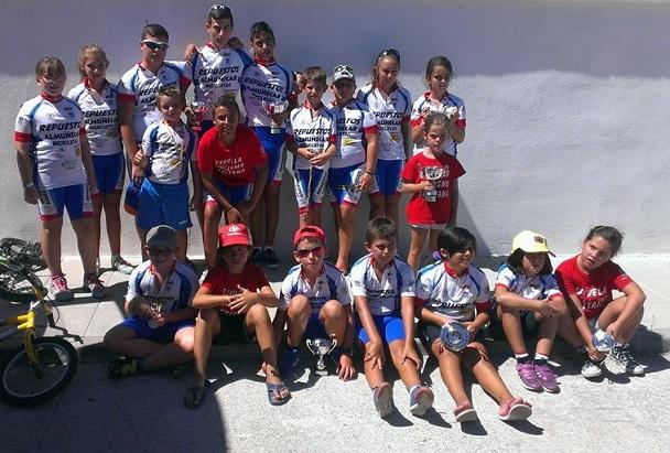 Los ciclistas sexitanos consiguieron nueve podios en  Churriana de la Vega
