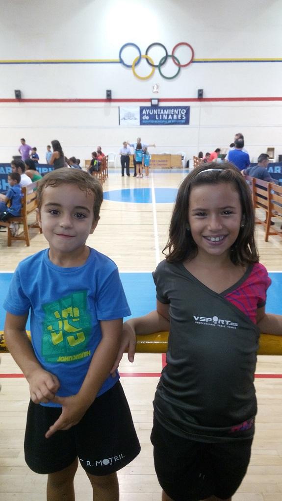 Excelente actuación de Rafael Pedregosa y Rosa Lorente en el Top Promesas de Tenis de Mesa