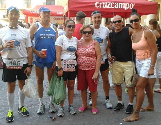 El Club Atletismo Almuñécar en la VII Media Maratón del Melocotón de Guadix