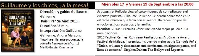 """Cine Club Mediterráneo proyecta hoy viernes """"Guillaume y los chicos de la mesa"""""""