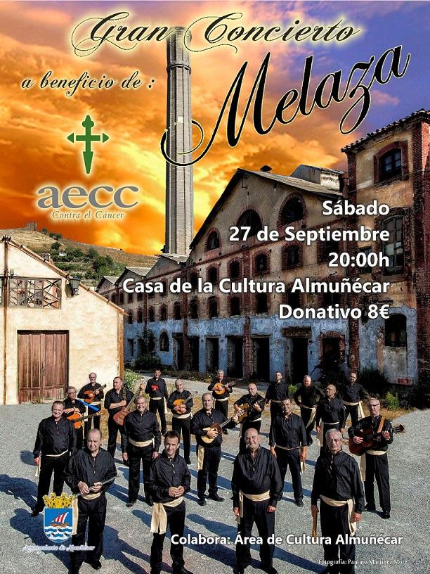 El grupo Melaza ofrece un concierto a beneficio de AECC de Almuñécar