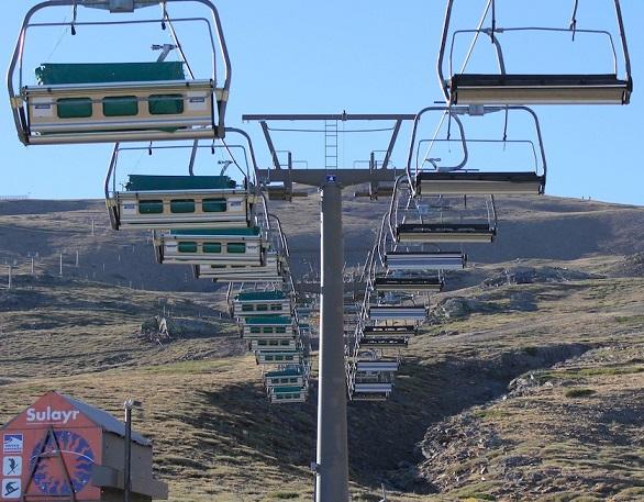 Sierra Nevada renueva el telesquí Zayas  al cumplirse 25 años de su instalación