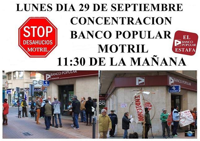 """""""El 80% de los desahucios que se ejecutan en Motril procede del Banco Popular"""""""