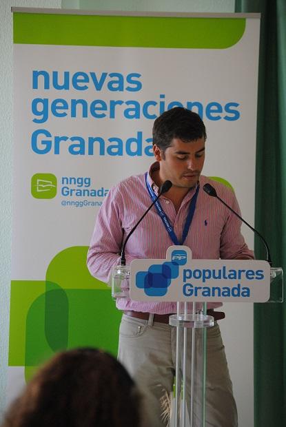 Jesús Hidalgo, presidente de la Intermunicipal de NNGG de Andalucía