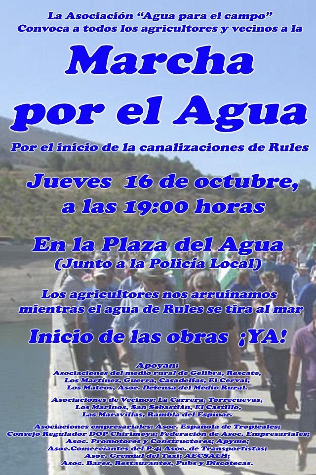 Los agricultores de la Cuenca de Río Verde se manifiestan el 16 de octubre por las canalizaciones de Rules
