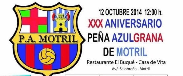 La peña azulgrana de Motril celebra el próximo 12 de octubre su 30 aniversario