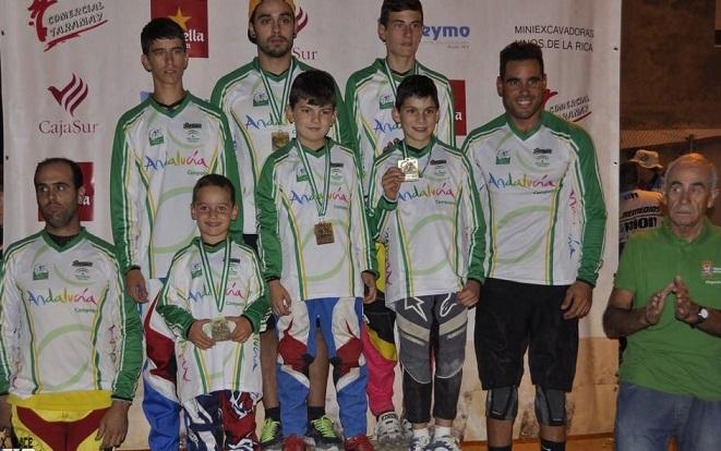 Varios ciclistas sexitanos del   CD Show Time BMX  se proclamaron campeones de Andalucía en distintas categorías