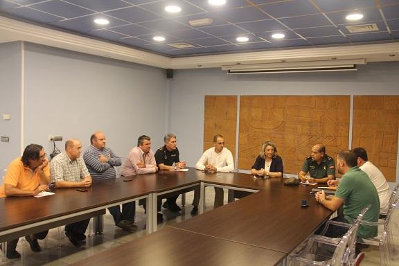 Ayuntamiento de Almuñécar, agricultores y fuerzas de seguridad  se coordinan ante los robos en el campo