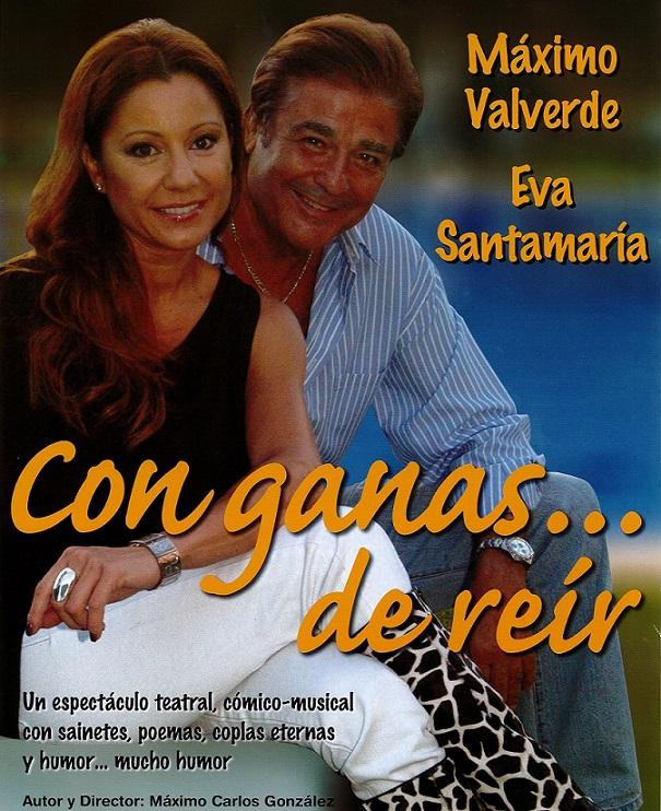 """""""Con ganas de reir"""", con Máximo Valverde y Eva Santamaría este sábado en el Teatro Calderón Motril"""