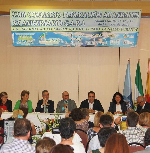 Inaugurado el XXIII Congreso de la Federación de Prevención y Tratamiento de Alcohólicos y otras Adiciones de Andalucía