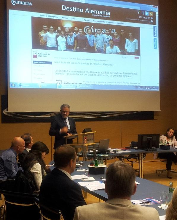 """El Proyecto Destino Alemania se presenta en el """"Unternehmerforum Spezial"""" de Vechta"""