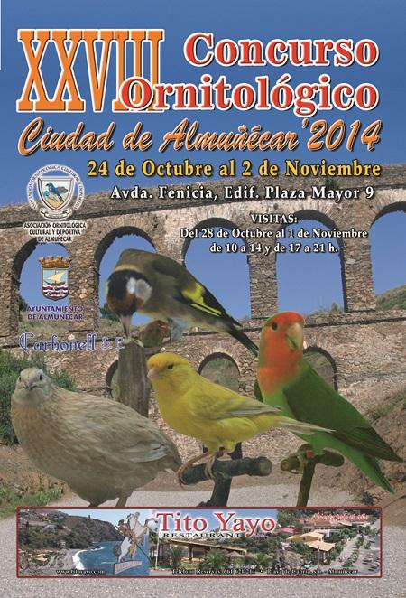 """El  Concurso Ornitológico """"Ciudad de Almuñécar 2014""""  se celebrará del 24 de octubre al 2 de noviembre"""