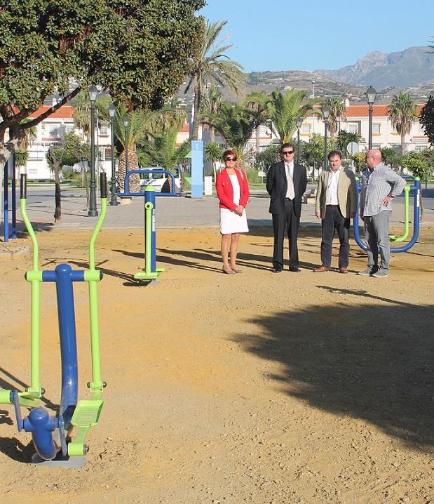 Salobreña inaugura un nuevo parque biosaludable