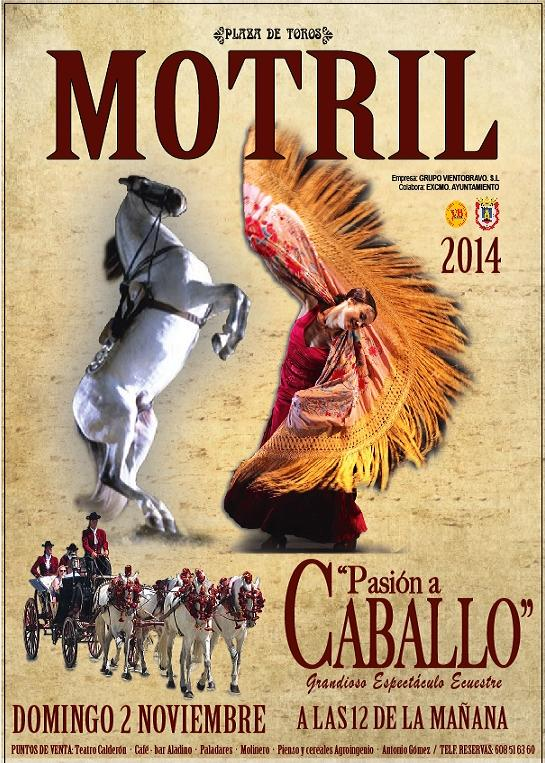 La plaza de toros de Motril pone en escena este domingo el espectáculo 'Pasión a caballo'