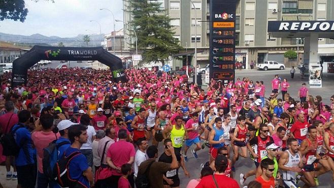 El Club Atletismo Sexitano en la Carrera de la Esperanza en Vélez Málaga