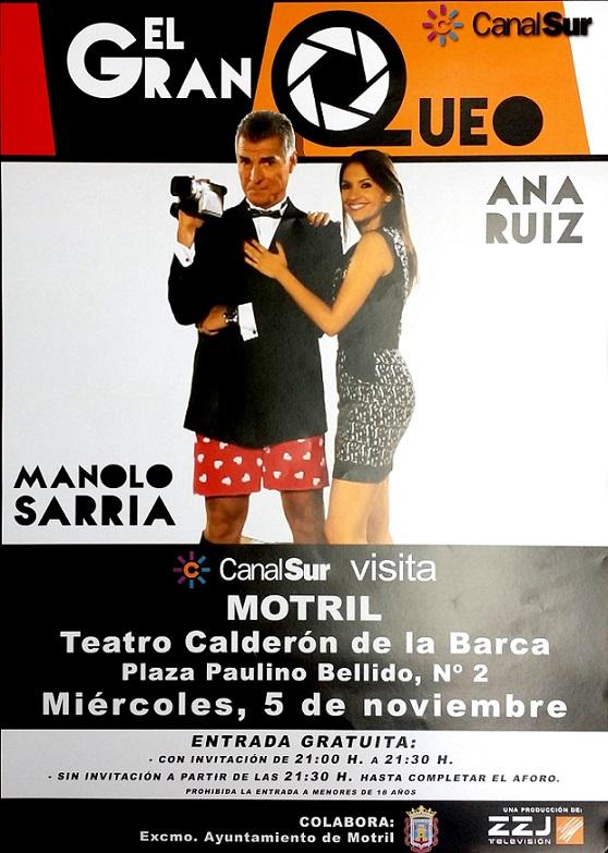 El programa de Canal Sur 'El Gran Queo' celebra una gala en el Calderón este miércoles