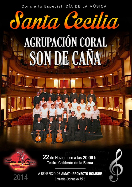 Son de Caña actuará el 22 de noviembre en concierto en el Calderón en favor de Proyecto Hombre
