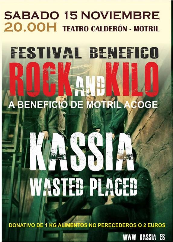 KASSIA y Wasted Placed en directo en el Calderón a beneficio de Motril ACOGE