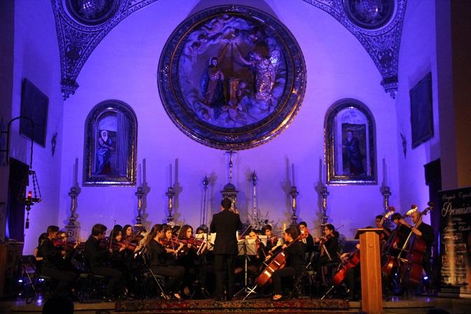 La Joven Orquesta Promúsica de Málaga arrancó el I Encuentro Internacional de Jóvenes Orquestas de Almuñécar  con un gran concierto