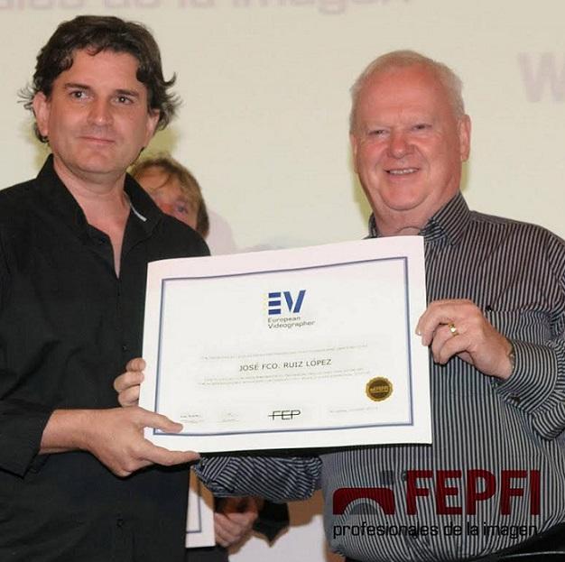 José Francisco Ruiz de Foto Montoro Salobreña ha sido reconocido con el Título Europeo de Videógrafo EV