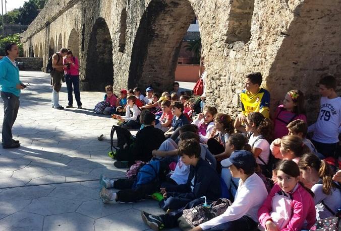 Alumnos del CP Rio Verde conocen el patrimonio medio ambiental de la Vega sexitana