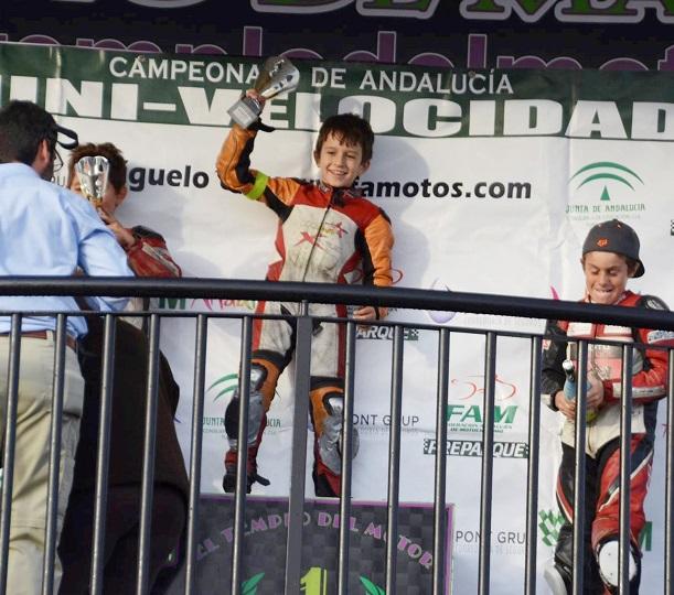 El almuñequero Abel Rodríguez se proclama subcampeón de Andalucía en minimotos 6.2.