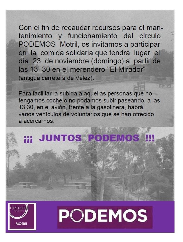 Comida colaborativa de Podemos Motril