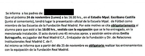 El PSOE pide explicaciones al Gobierno del PP por obligar a los niños de las Escuelas Municipales de Fútbol a vestir la equipación del Real Madrid