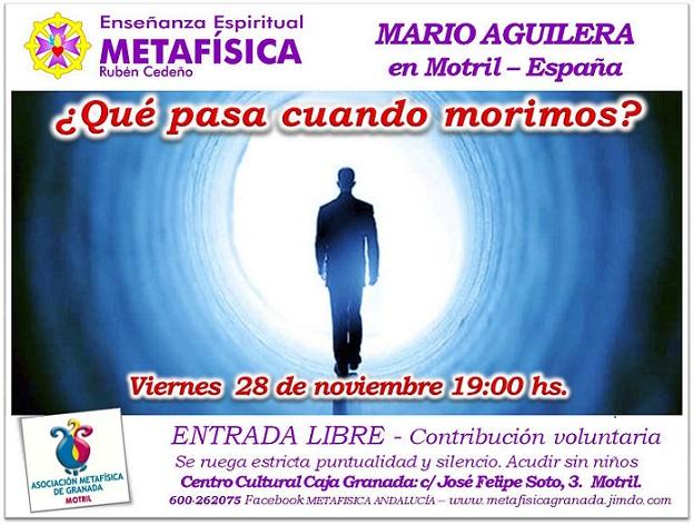 """Mario Aguilera dará una conferencia sobre""""¿Qué pasa cuando morimos?"""""""