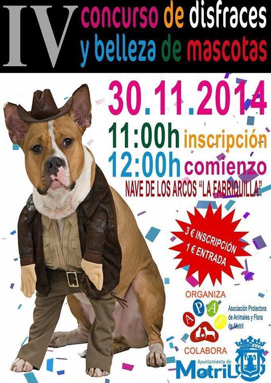 """APAF Motril organiza el IV Concurso de """"Belleza y Disfraces de perros"""""""