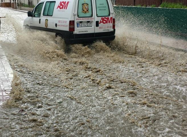 La lluvia caída en Almuñécar hasta esta mañana a las 8, fue de 36 litros/m2