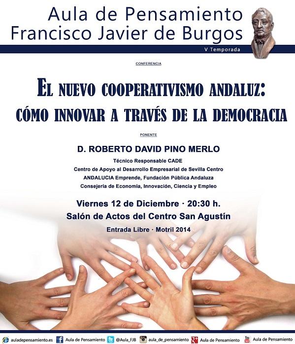 El Aula de Pensamiento de Motril trae como ponenente a Pino Merlo que hablará sobre cooperativismo