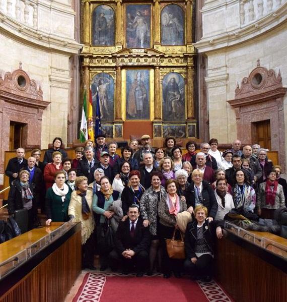 Los mayores de Órgiva y Loja visitan el Parlamento de Andalucía