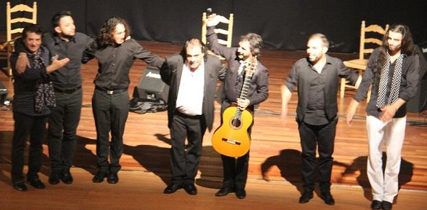 """El cantaor  Antonio Torres """"El Chato de Vélez""""  ofreció  un gran espectáculo en Almuñécar"""