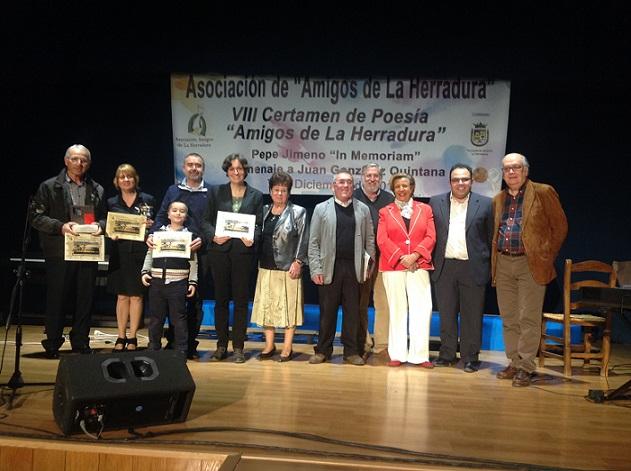 """La poetisa madrileña Verónica Aranda Casado recibe el premio del VIII Certamen de Poesía """"Amigos de La Herradura"""" por  un poema dedicado a la mujer de Juan Ramón Jiménez."""