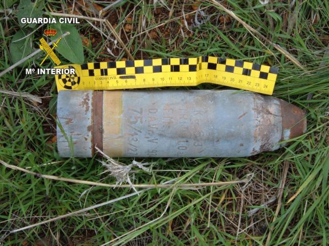 Destruye de forma controlada proyectil de la Guerra Civil en Sierra de Lújar