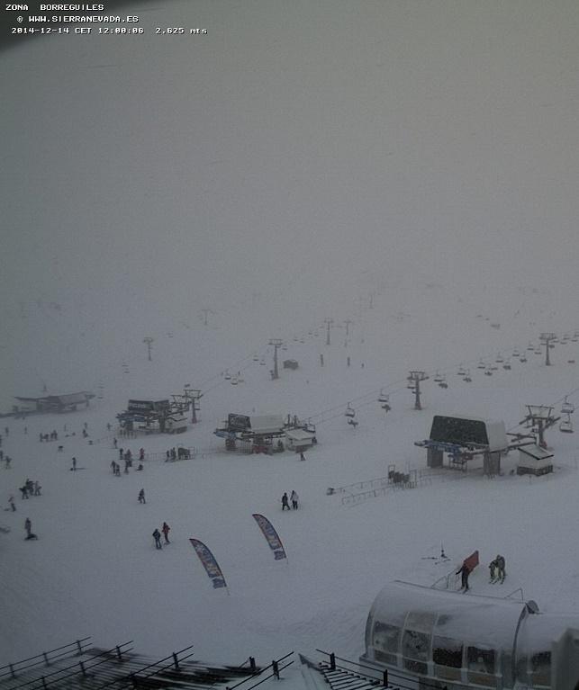 Sierra Nevada tendrá para este domingo 50 kilómetros de pista esquiable