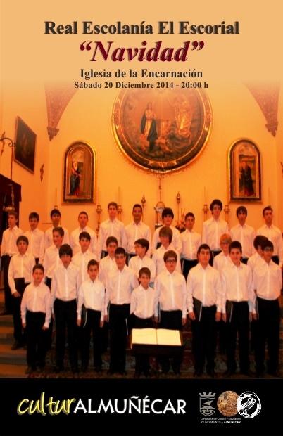 La Escolanía del Real Monasterio del Escorial dará en Almuñécar un  Concierto de Navidad