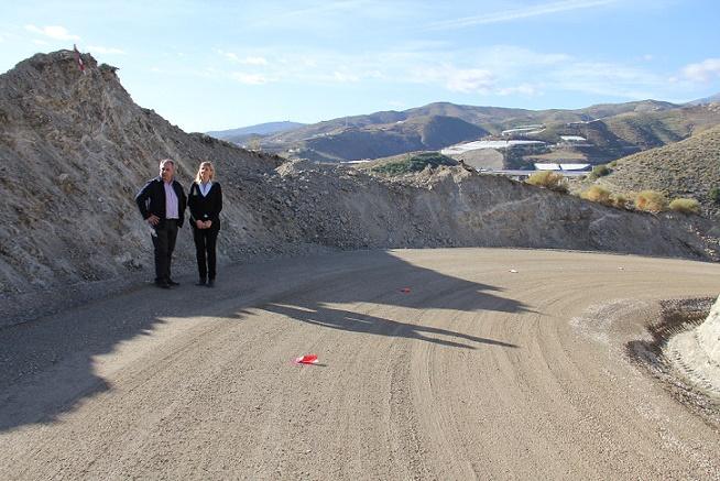 La Diputación corrige un deslizamiento en la carretera GR-6204 de Polopos con una inversión de 111.000 euros